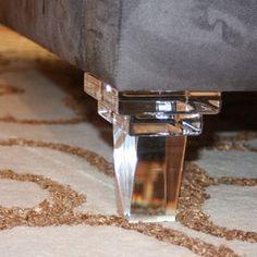 Custom Mordern Clear Lucite Sofa Legs Acrylic Furniture Legs Furniture Feet Perspex Furniture Legs