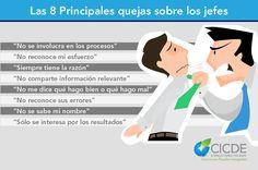 Principales quejas sobre los jefes #emprender, #infografía, #emprendedor
