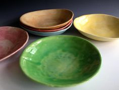 READY TO SHIP Pasta bowls free form von Lesliefreemandesigns