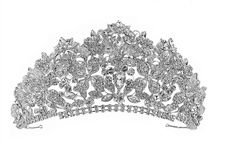 """3"""" Tall Crystal Quinceanera and Wedding Tiara - Silver or Gold"""
