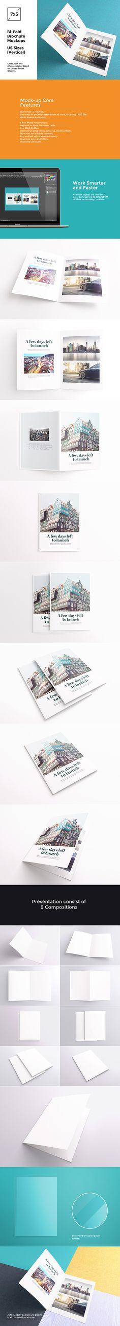 Bi-Fold Brochure / Flyer Mockups by itembridge creative store on @creativemarket