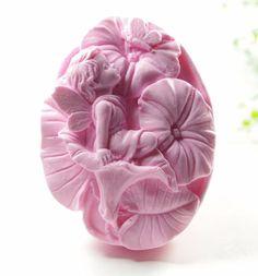 HR-COME 3D Angel Flower Fairy Silicone Moule DIY Savon Bougie G/âteau Fondant Moule De Cuisson