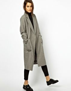 エイソス(ASOS)ロングコート  ASOS Oversized Wrap Front Coat 1