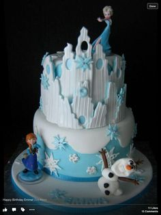 bolo disney frozen Bolos decorados Frozen