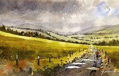 "Above Pitlochry- Scotland by Iain Stewart ~ 10"" x 6.5"""