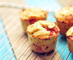 Aardbei muffins van kokosmeel – suikervrij
