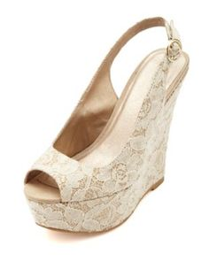If ever I had to wear heels, it would be these Fall Wedding Shoes, Wedding Wedges, Wedding Heels, Summer Wedding, Lace Wedding, Lace Wedges, Lace Heels, Wedge Sandals, Wedge Shoes