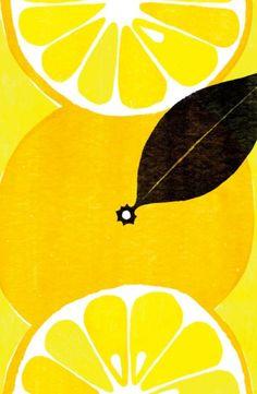 Lemon Painting ~ Mary Wald's Place - the art room plant: Yamauchi Kazuaki II Textures Patterns, Print Patterns, Flowers Wallpaper, Poster Photo, Motifs Textiles, Art Watercolor, Alphonse Mucha, Art Graphique, Pattern Illustration