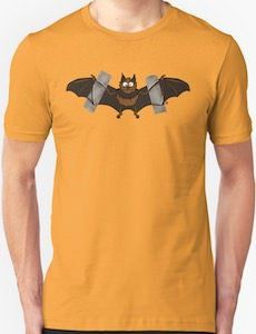 Taped Bat Logo T-Shirt.