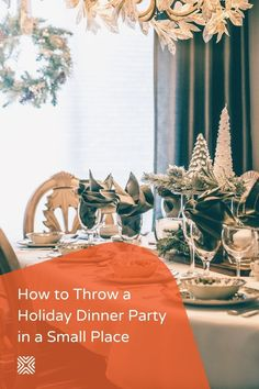While you may love your cozy home, it can be tricky fitting all of the people you enjoy into a small space to throw a holiday dinner. With a little creativity and these fabulous holiday decor ideas, you can create the perfect holiday dinner party in a cozy home. Dining Room Colors, Dining Room Wall Decor, Seasonal Decor, Fall Decor, Holiday Decor, Dining Room Inspiration, Small Places, Holiday Dinner, Cozy House