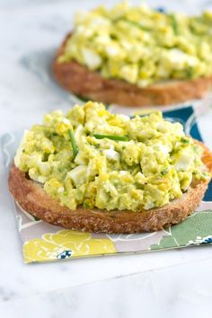 Easy Avocado Egg Salad Recipe from www.inspiredtaste.net #recipe...Mash avocado, mayonnaise and lemon juice together in a medium bowl. Stir in the eggs, celery and chives. Season with salt and pepper.