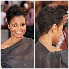 Pictures Of Haircut Style: janet jackson hair cut Cut My Hair, Love Hair, Great Hair, New Hair, Gorgeous Hair, Beautiful, Short Taper Haircut, Short Black Hairstyles, Cool Hairstyles