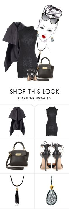 """""""Untitled #6900"""" by lisa-holt ❤ liked on Polyvore featuring Alice + Olivia, Rick Owens, Gwhite, ZAC Zac Posen, Gianvito Rossi, Phillip Gavriel and Tom Ford"""