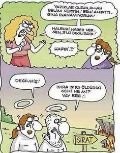 sırat köprüsü ısıra ısıra öldürdü seni ha :) komik aldatma aldatılma hikayesi karikatür