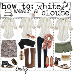 """How to: Wear a White Blouse"" by tipgirlsofpolyvore on Polyvore"