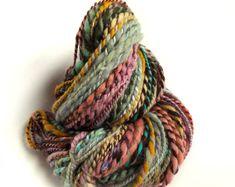 Bulky knit yarn chunky handspun yarn multicolor yarn chunky merino yarn chunky yarn bulky yarn crochet chunky wool yarn thick hotch potch