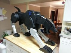 Foam Ravage - Holy smokes who ever did it did a serious-o spot-on job for G1 Ravage!