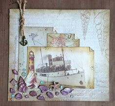 Mixed Media Collage Ocean Memories by YourJuliet on Etsy