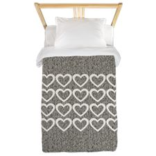 Shop Cute Hearts Wooly Twin Duvet Cover designed by Technotext. Lots of different size and color combinations to choose from. Twin Size Duvet Covers, Grey Pillows, Duvet Cover Design, Colorful Pillows, Bed Spreads, Hearts, Comfy, Cute