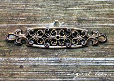 Antiqued Brass Backplate / Accent Hardware for Knobs / Furniture Dressers Drawers Cabinets Restoration Hardware by MagicalBeansHome on Etsy