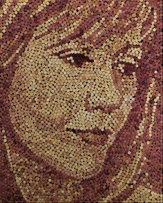One idea - no instructions  10 Mosaics Made With Unusual Objects | Mental Floss