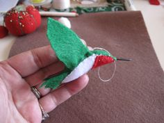Hummingbird Felt Ornament.  Would love to have one in memory of my mom.