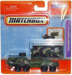"2011 Matchbox 4"" Real Working Rigs Die-Cast, (Army Green Camoflauge) OSHKOSH HEMTT A4 (Heavy Expanded Mobility Tactical Truck) by Mattel. $13.99. Truck 1:55. Matchbox Real Working Mega Tracktor. Large Realistic Features And Real Moving Parts That Work And Play Hard. Each Iconic Truck Comes In A Cool 4-Inch Size Great For Manipulative Play And Imaginative Set Ups. Ready For Action All The Details Of The Life-Size Make And Models Boys? Favorite Construction, Fire And..."