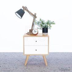 MAIN BEDROOM Bedside Table | Buy Nikolas Scandinavian Bedside Table Nightstand – Retrojan