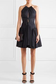 Alaïa | Perforated cotton mini dress | NET-A-PORTER.COM