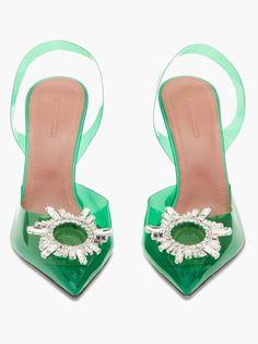 Begum crystal-embellished PVC pumps | Amina Muaddi | MATCHESFASHION US