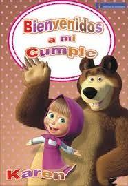 Resultado de imagen para TARJETITAS de masha y oso PARA IMPRIMIR