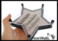 Metal Stars, Pin Art, Have Metal, Sensory Toys, Metal Pins, Fidget Toys, Star Shape, Cool Toys, Desk