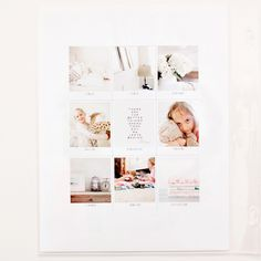 Love this style for a printed album