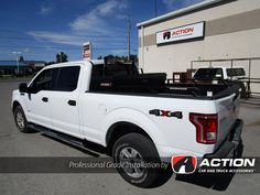 Installed on this F150: - BackRack - Side Rails - Rear Ladder bar - Toolbox by WEATHER GUARD - Light pods by Uni Bond - Chrome Aero Skin by AVS - Seat covers