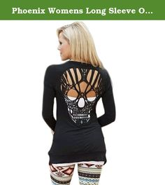 Phoenix Womens Long Sleeve Open Front Back Cut Out Skull Cardigan Tops (US L(Asian XL), Black). Specification: Please check the size chart BELOW carefully with your body measurement and then choose your size. Material: 80% Cotton Blends, 20% Polyester Spandex . Hand Wash or Machine Wash Seperately in Cold Water and Dry Clean. Soft Touching, Special Skull Design, Comfortable and Stylish . We are experienced seller in Amazon,and proffesional to provide the low price with high quality…