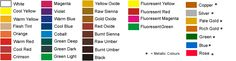 Fine Art Fine Art Student Acrylic colour chart