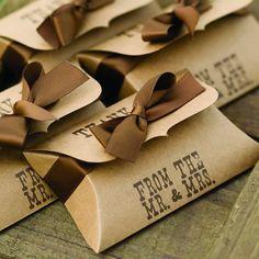 Love, love, love! WhereBridesGo.com: Western Style Wedding Wedding Favor Pillow Boxes (25 Pack) #wherebridesgo #weddingfavors