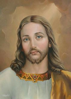 Painting of Jesus Christ the kind, gentle and loving Religious Pictures, Jesus Pictures, Heart Of Jesus, Jesus Is Lord, Jesus Christ Images, Jesus Face, In Christ Alone, Divine Mercy, Jesus Lives