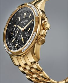 Mens Diamond Jewelry, Diamond Watches For Men, Luxury Watches For Men, Gold Watches, Citizen Watch, Citizen Eco, Diesel Watches For Men, Golden Watch, Gold And Silver Watch