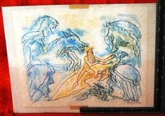 Art works on paper. Usa estate item - well listed artist