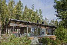 These 8 Log Cabin Kit Homes Celebrate Nordic Minimalism - Photo 3 of 20 - The exterior of Kide, a sauna cabin in the west coast of Finland.