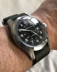 Stylish Watches, Watches For Men, Automatic Watch, Hamilton, Omega Watch, Military, Gallery, Design, Couple Art