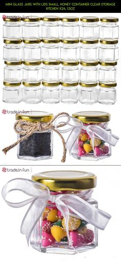 Mini Glass Jars with Lids Small Honey Container Clear Storage Kitchen X24, 1.5oz #jars #lids #products #with #kit #storage #parts #racing #plans #drone #camera #tech #technology #shopping #gadgets #fpv