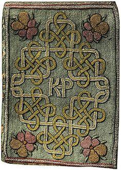 An embroidered book stitched by Princess Elizabeth Tudor (future Elizabeth I) for her stepmother, Katherine Parr