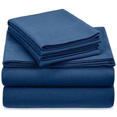 Queen Flannel Sheet Set Cotton Velvet Fitted Flat Soft Warm Bed Cover Pillowcase #FlannelSheetSet #Luxurious