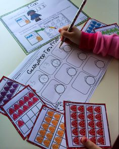 Gumdrop ten frame count. Includes 2 levels to allow for differentiation. Students will count the gumdrops and record their answer on their paper.