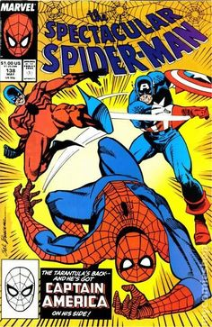 Spectacular Spider-Man (1976 1st Series) 138   Marvel Comics Peter Parker Comic book covers Super Heroes  Villians  Amazing Astonishing silver bronze modern age Captain America