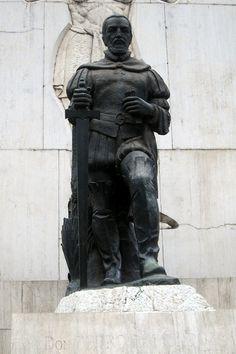Monumento de Don Pedro de Mendoza (1487-1537), fundador de la ciudad de Nuestra Señora de Buenos Aires,  Parque Lezama