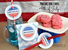 4th of July Printable done 3 Different Ways!