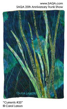 Art quilt by Carol Larson Textile Artists, Pretty Art, Textiles, Quilts, Quilt Art, Artwork, 25th Anniversary, Contemporary, Modern
